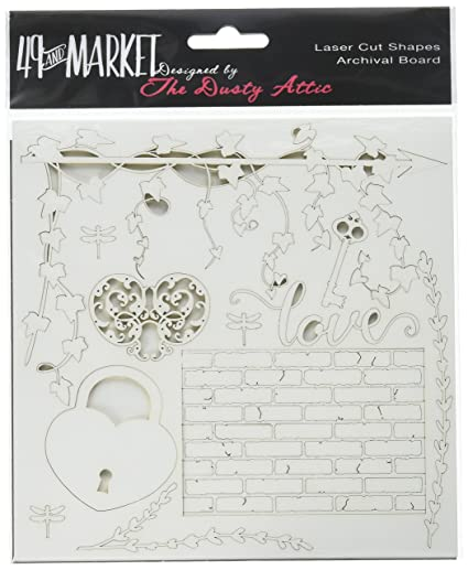 Home 49 and Market Timeless White Archival Chipboard 6x6