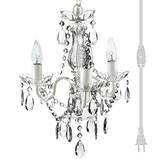 quality design eb87d d9572 The Original Gypsy Color 3 Light Mini Plug-in Crystal Chandelier for H17