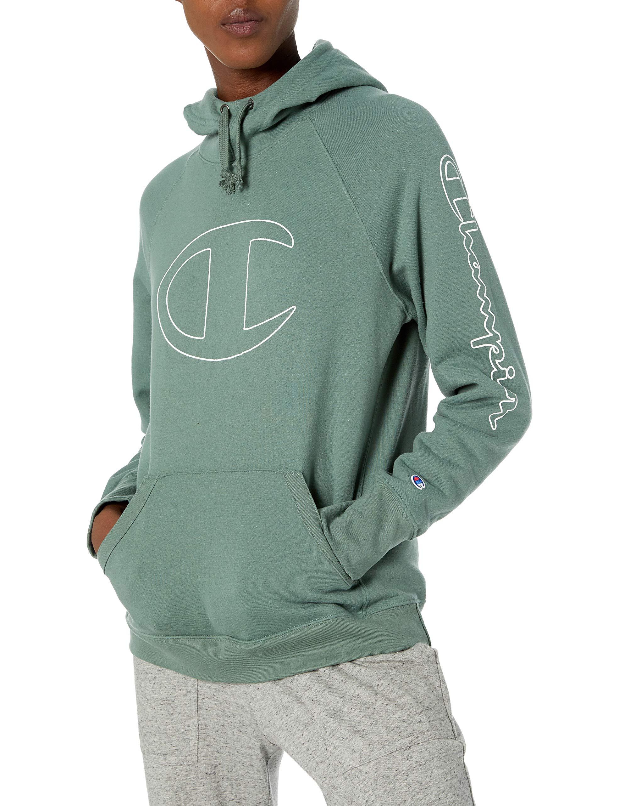 Champion Women's Fleece Pullover Hoodie, Nurture Green, Large by Champion