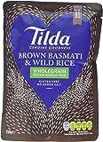Tilda Brown Steamed Basmati and Wild Rice, 250 g, Pack of 6