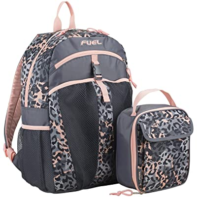 Fuel Backpack & Lunch Bag Bundle, Blush/Gray/Cheetah Tie Dye Print | Kids' Backpacks