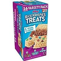 Kellogg's Rice Krispies Treats Original Marshmallow Bars - Classic Kid School Snack, Value Pack, Single Serve (16 Count)