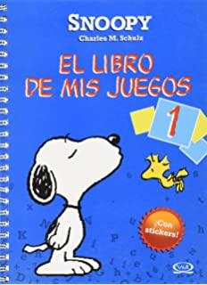 Snoopy el libro de mis juegos/ Snoopy The Book of My Games: Color azul