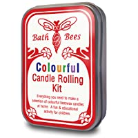 Natural cera de abejas vela colorido Rolling KIT