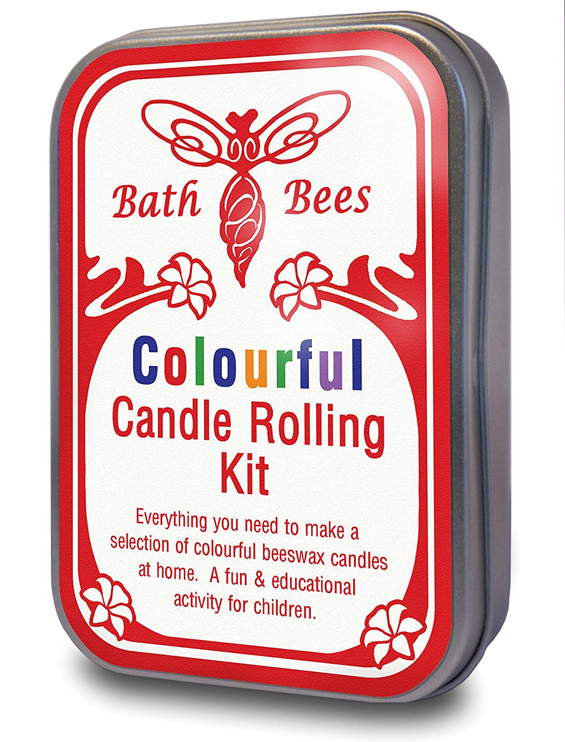 Natural Beeswax Colourful Candle Rolling Kit Bath Bees