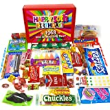 50th Birthday Candy Box Full of Nostalgic Candy for 1968, Red