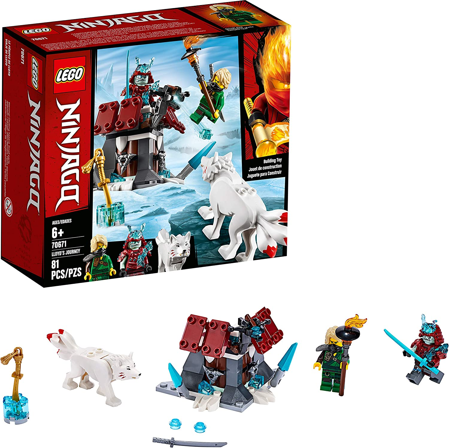LEGO NINJAGO Lloyds Journey 70671 Building Kit, New 2019 (81 Pieces)