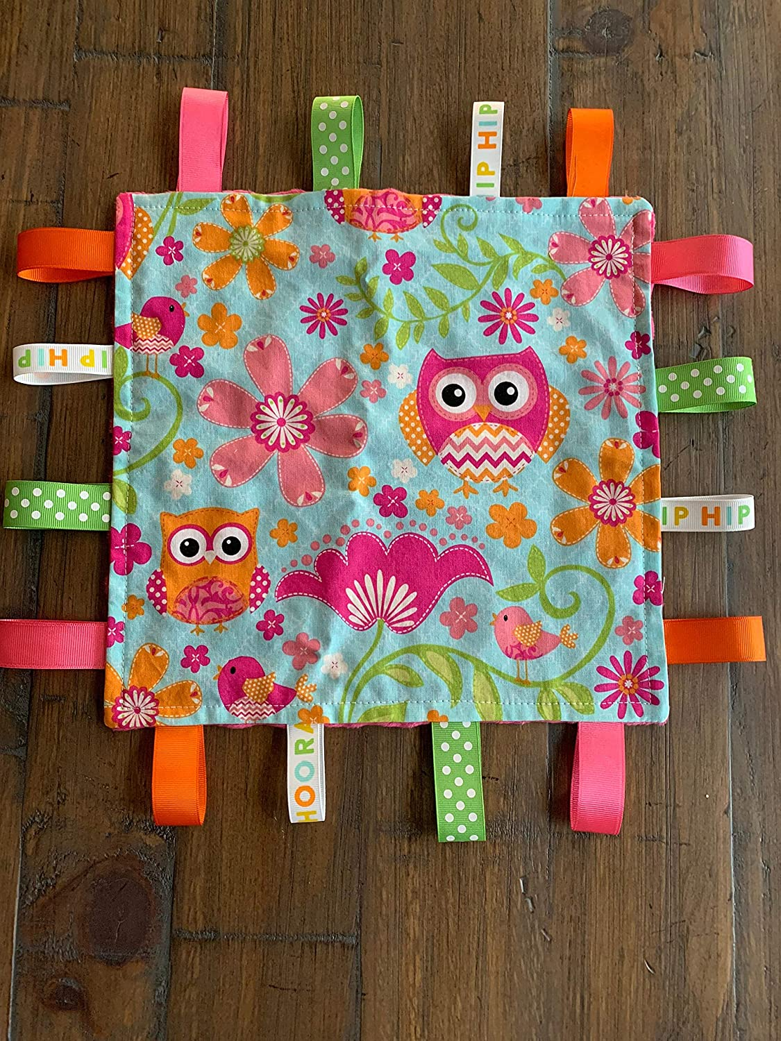 Baby Toy Baby Shower Gift Newborn Gift Baby Girl Lovey Owl Baby Girl Taggy Personalized Taggy Baby Girl Gift