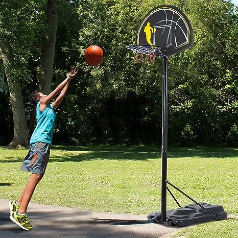 HOMCOM Canasta de Baloncesto Movil Altura Ajustable 245-305cm con ...
