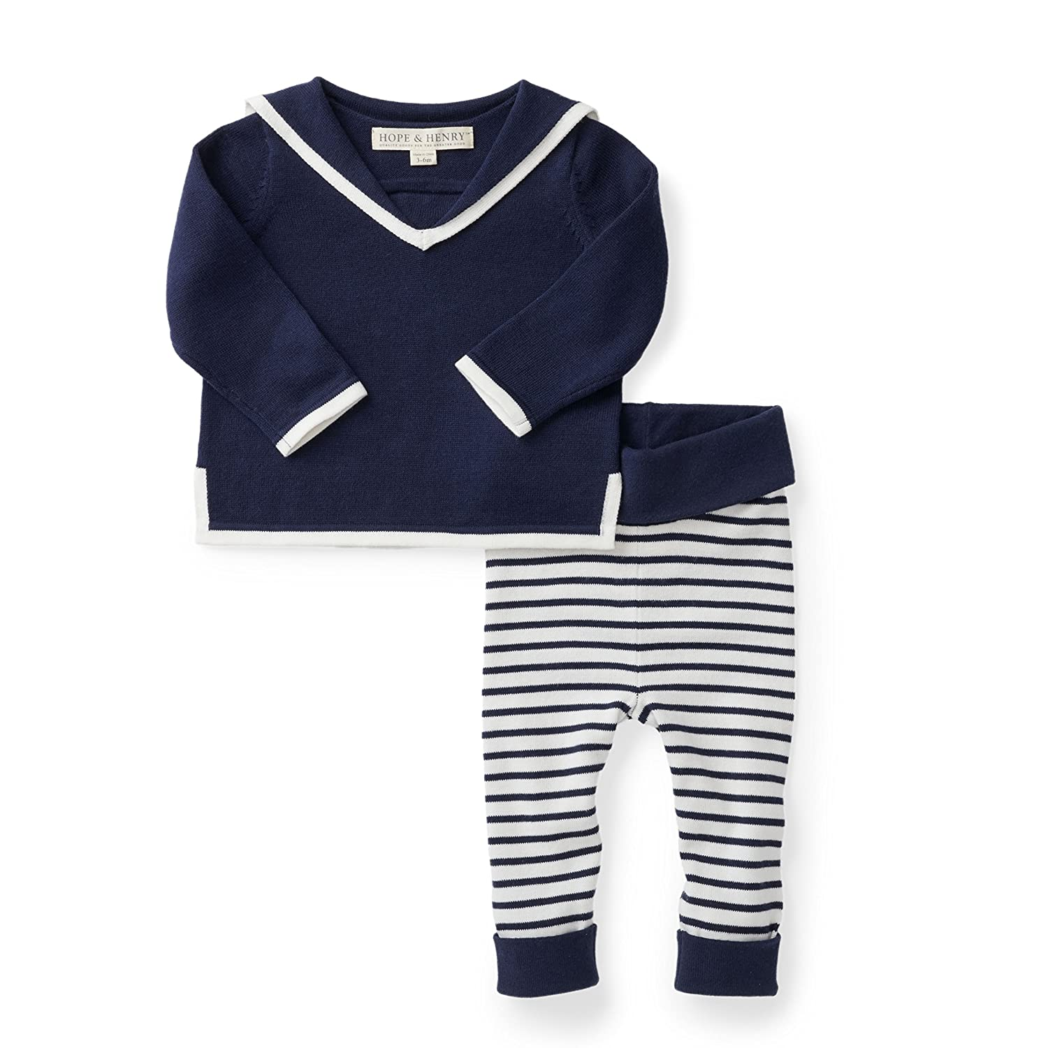 e0682ffd5b7b Amazon.com  Hope   Henry Layette Two Piece Sweater Set  Clothing