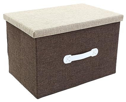 Jumbo Storage Box   Natural Jute Storage Container   Beige Closet Box   18 X  12