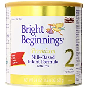 Bright Beginnings Premium Milk-Based Baby Powder Formula with Iron