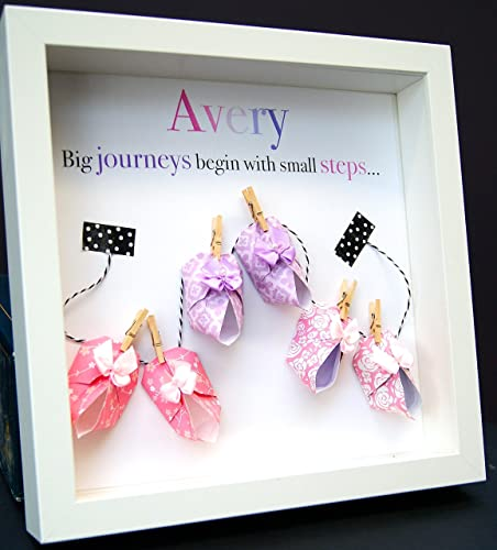 Amazon.com: Personalized Name Paper Origami Shadowbox Frame with ...