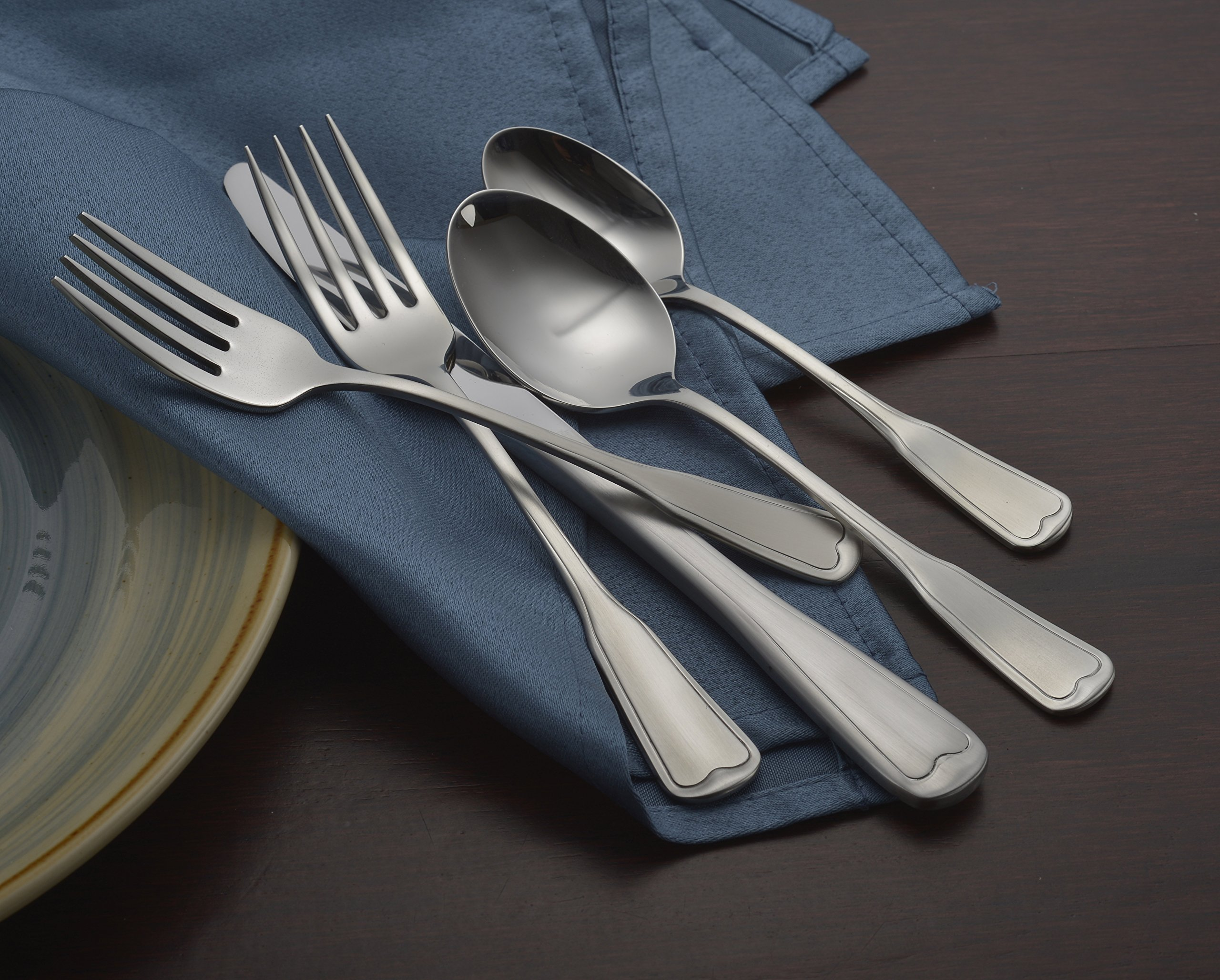 Liberty Tabletop Satin Richmond 20 Piece Flatware Set service for 4 stainless steel 18/10 Made in USA by Liberty Tabletop (Image #5)
