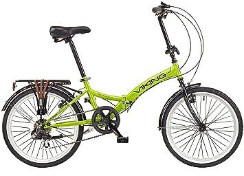 Viking 2018 Metropolis - Bicicleta Plegable con Ruedas de 20 Pulgadas (6 velocidades), Color Verde: Amazon.es: Deportes y aire libre