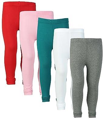 68dd622610afb Sini Mini Combo of Girl's Cotton Leggings (Amelage, White, Blue, Pink,