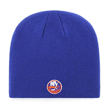 510eeb7a3 Amazon.com : OTS NHL New York Islanders Beanie Knit Cap, Royal, One Size :  Sports & Outdoors