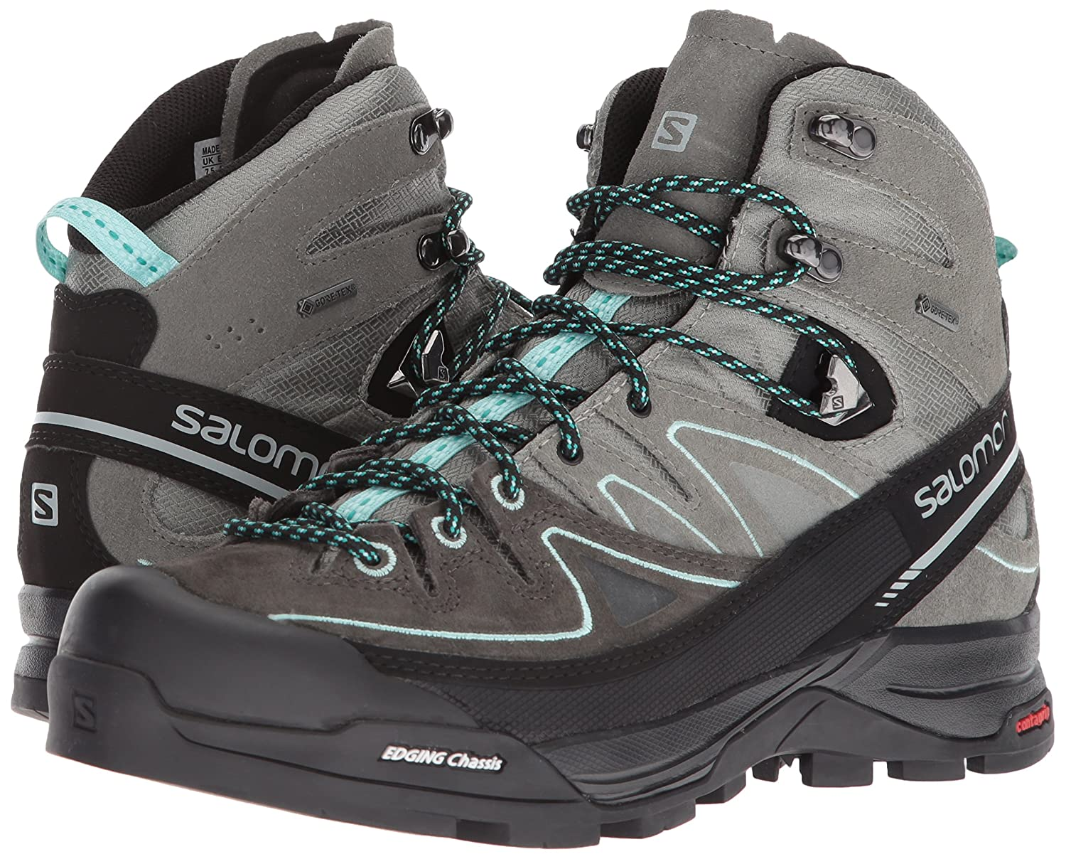 Salomon GTX X Alp Mid LTR GTX Salomon Hiking Shoe - Women's B01HD2Z46C 9 B(M) US|Shadow, Castor Gray, Aruba Blue bde41d
