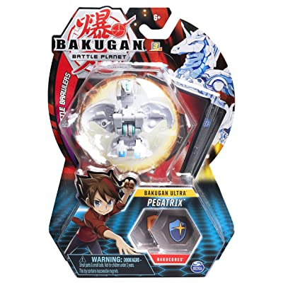 Bakugan Ultra, Pegatrix, 3-inch Collectible Action Figure and Trading Card, for Ages 6 and Up: Toys & Games