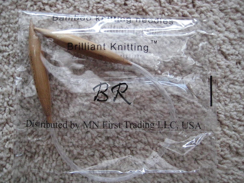 """Bamboo Circular Knitting Needles 16/"""" US 17 12.75mm"""