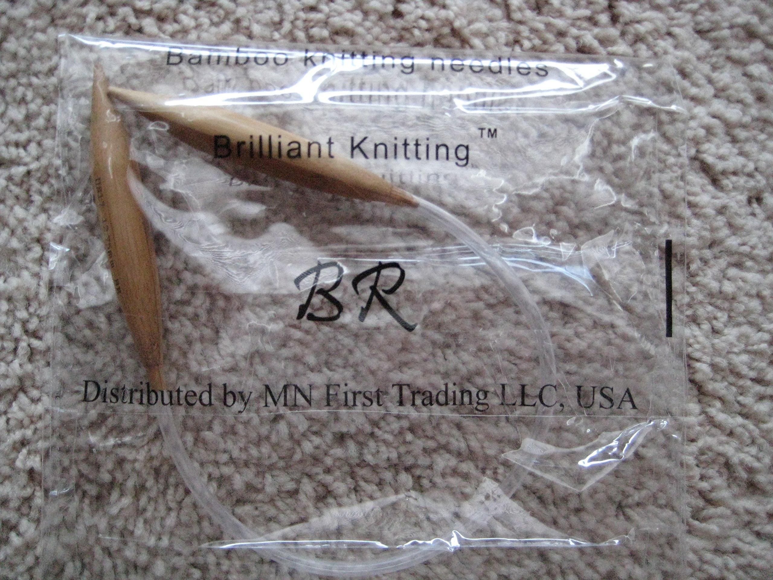 Big size, 3 sizes 9'' inches Bamboo Circular Knitting Needles BrilliantKnitting (BR brand) (US 10.5, 11, 13)New USA made tubing, never break again