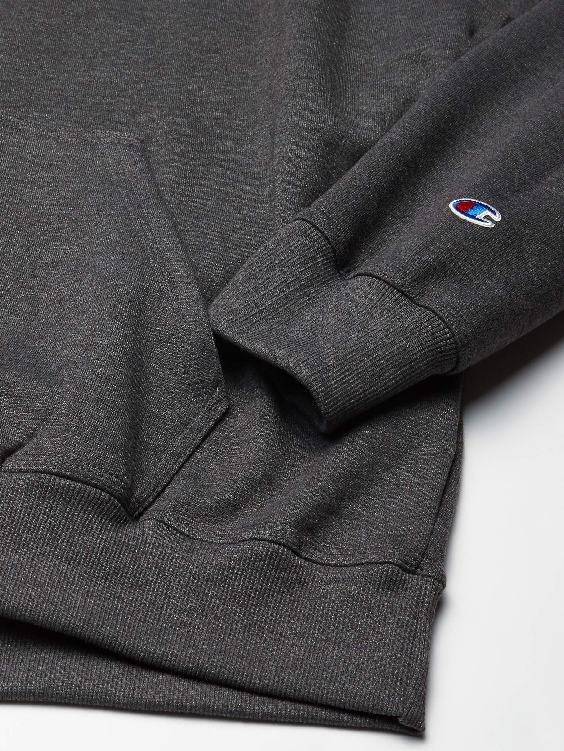 Fashion Shopping Champion Men's Powerblend Fleece Pullover Hoodie, Applique Script