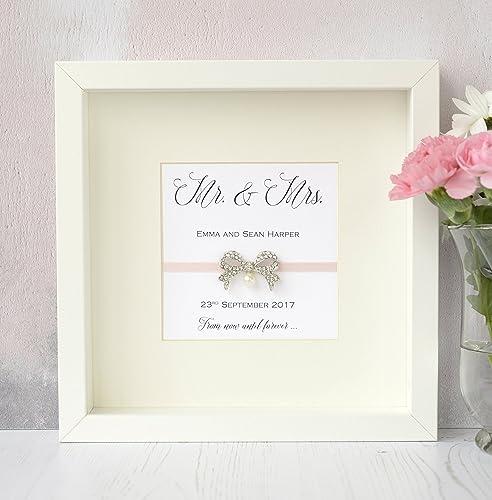 Personalised Handmade Wedding Frame Gift Keepsake