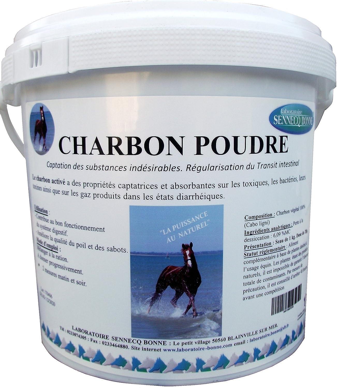 CHARBON POUDRE 100%.1 Kg Le charbon a des propriétés captatrices et absorbantes sur les toxiques, les bactéries, leurs toxines ainsi que sur les gaz produits dans les états diarrhéiques. Utilisation : ·Contribue au bon fonctionnement du système digestif. ·