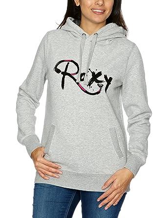 Quiksilver Roxy WPWSW993Y - Sudadera para mujer, tamaño L, color gris jaspeado