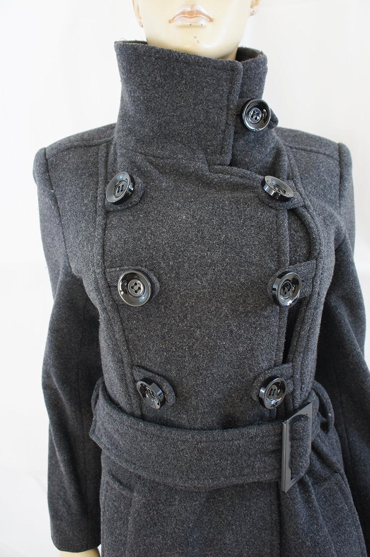 Zara Cappotto Donna Grigio Grau Grey Charcoal Small