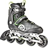 HUDORA Inliner Inline-Skates RX-90, Gr. 36-46 für Jugendliche und Erwachsene, schwarz/grün