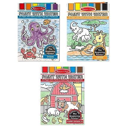 Amazon.com: Melissa & Doug Paint With Water Activity Books Set: Farm ...