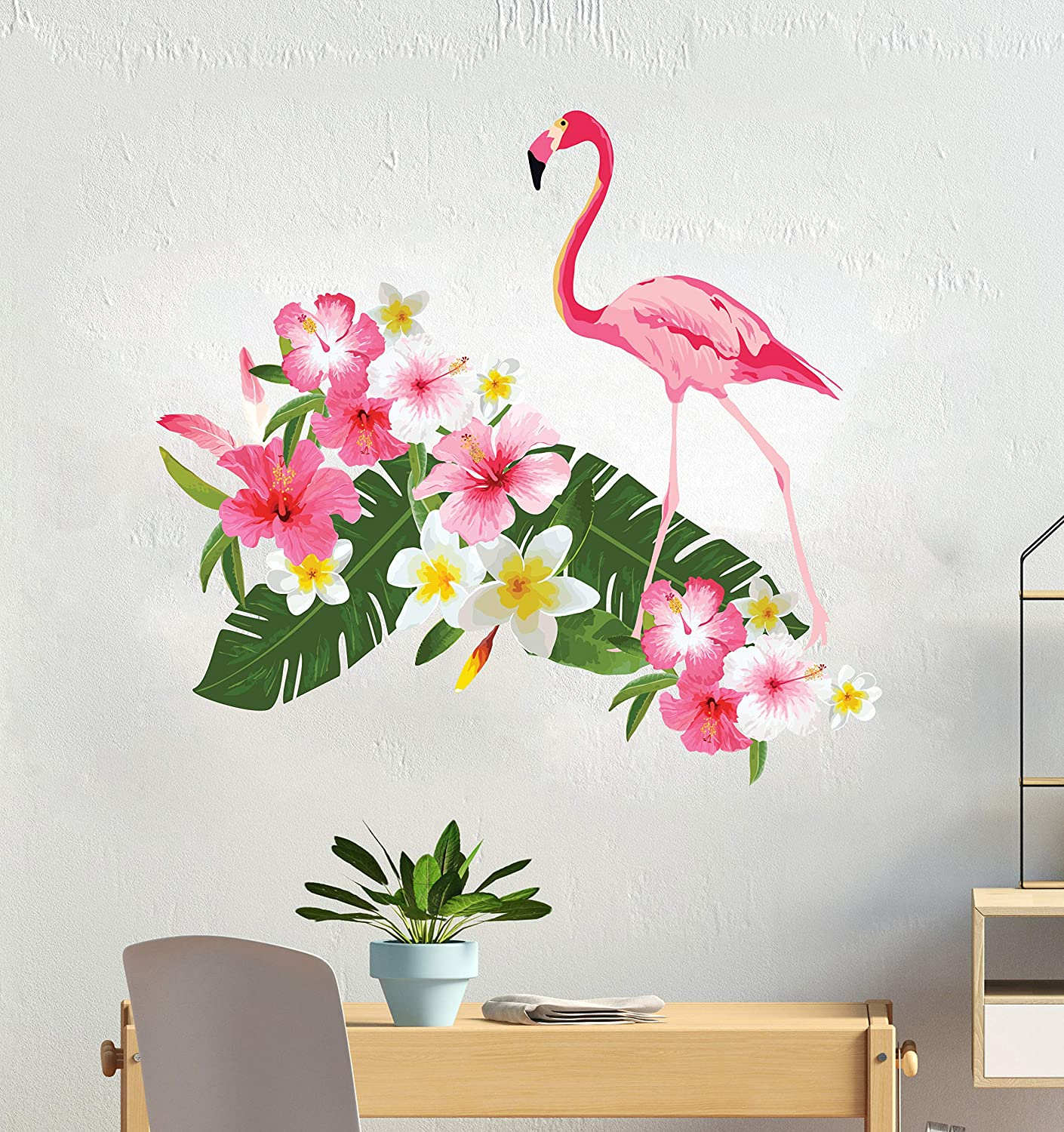 Tropical Mural Wall Decoration CG1142 Botanical Leaf Vinyl Design Big Sticker For Any Room Decor Tropical And Colorful Leaves Wall Decal