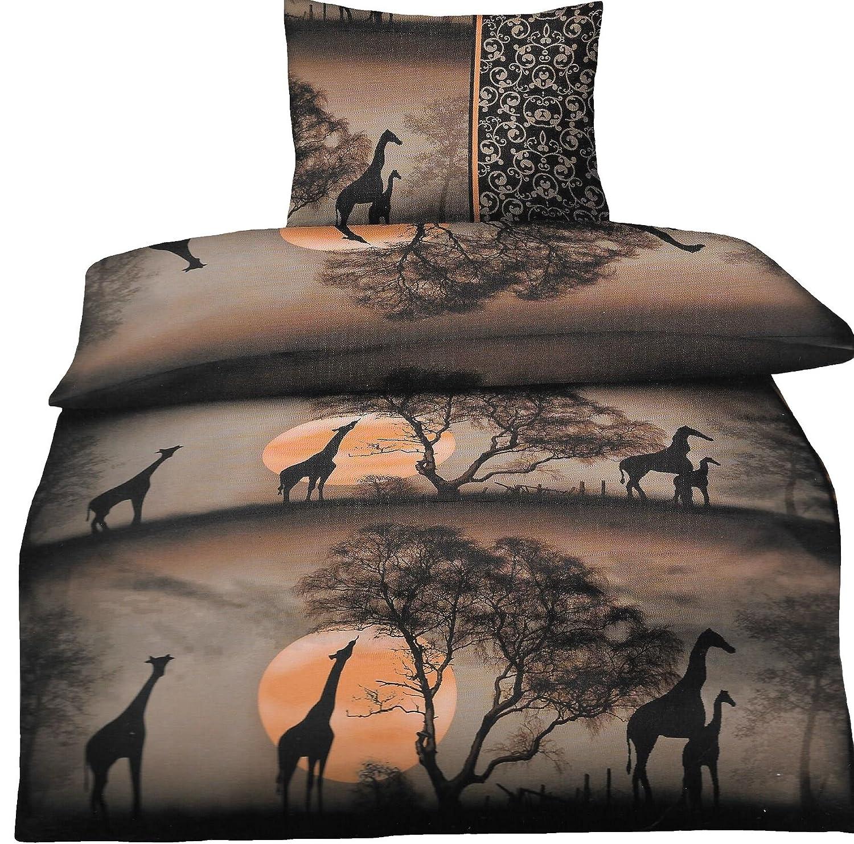 Bettwäsche Afrika Safari 135 X 200 Cm Oder 155 X 220 Cm In Braun Aus