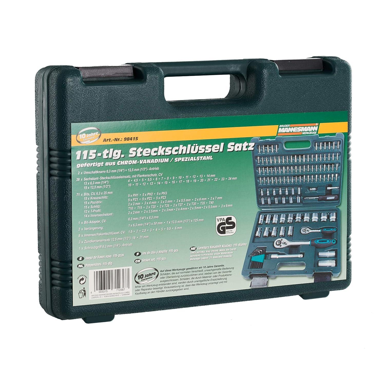 Mannesmann M98415 Coffret cl/és /à douilles 115 pi/èces