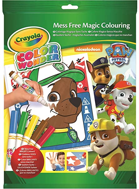 Crayola Paw Patrol Color Wonder Mess Free Coloring Pad And Markers Art Tools