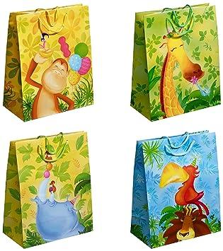TSI - Bolsas de regalo con motivos infantiles (12 unidades con 4 modelos distintos)