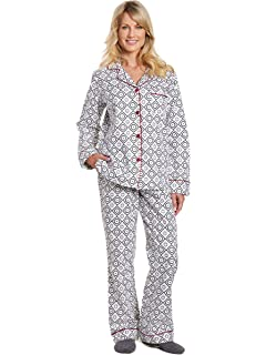 032728eb6f Noble Mount Womens Premium 100% Cotton Yarn Dyed Flannel Pajama ...