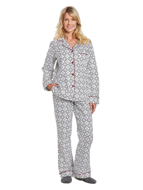 d51940b9d2 Noble Mount Womens Premium 100% Cotton Flannel Pajama Sleepwear Set at  Amazon Women s Clothing store