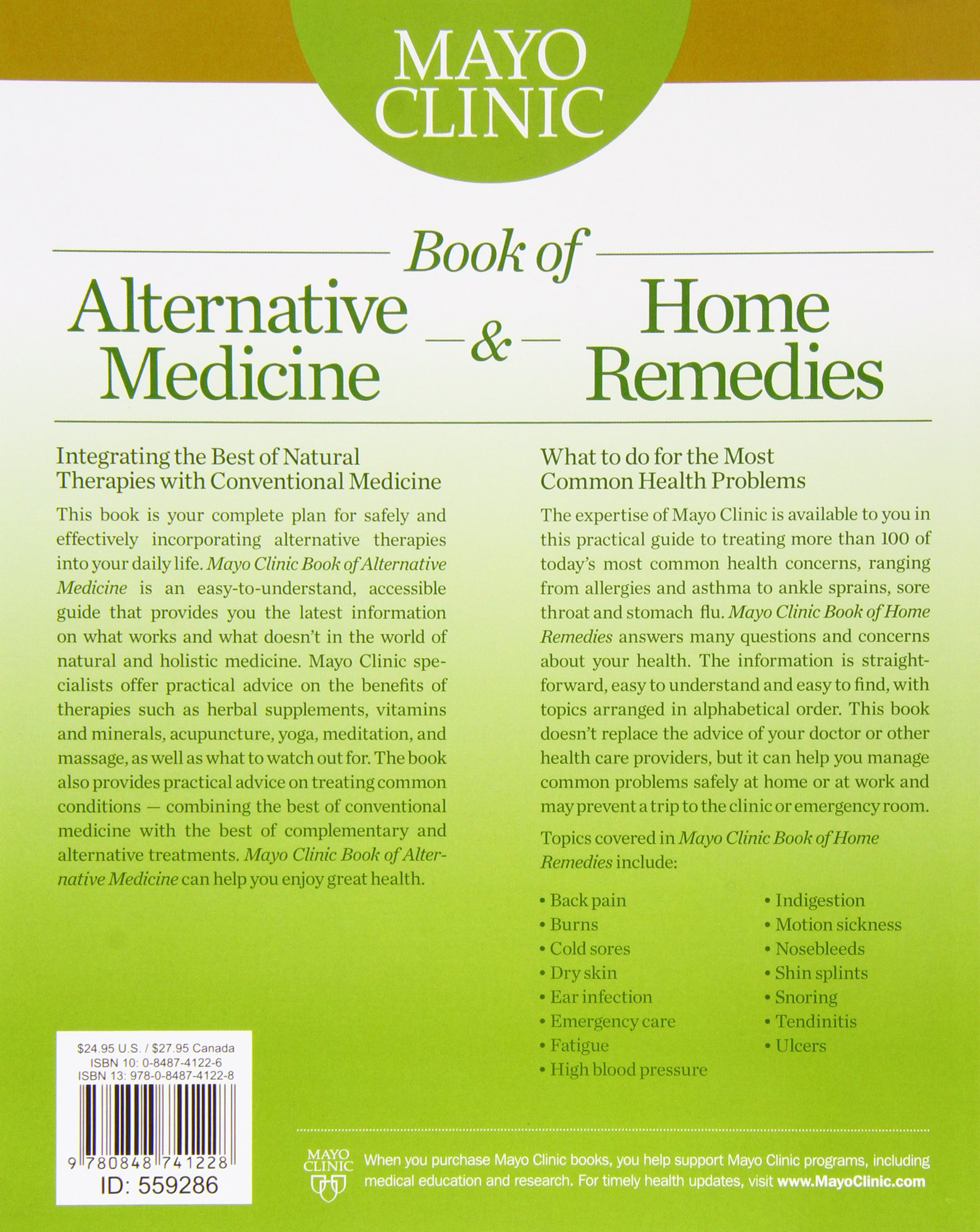 mayo clinic book of alternative medicine u0026 home remedies two