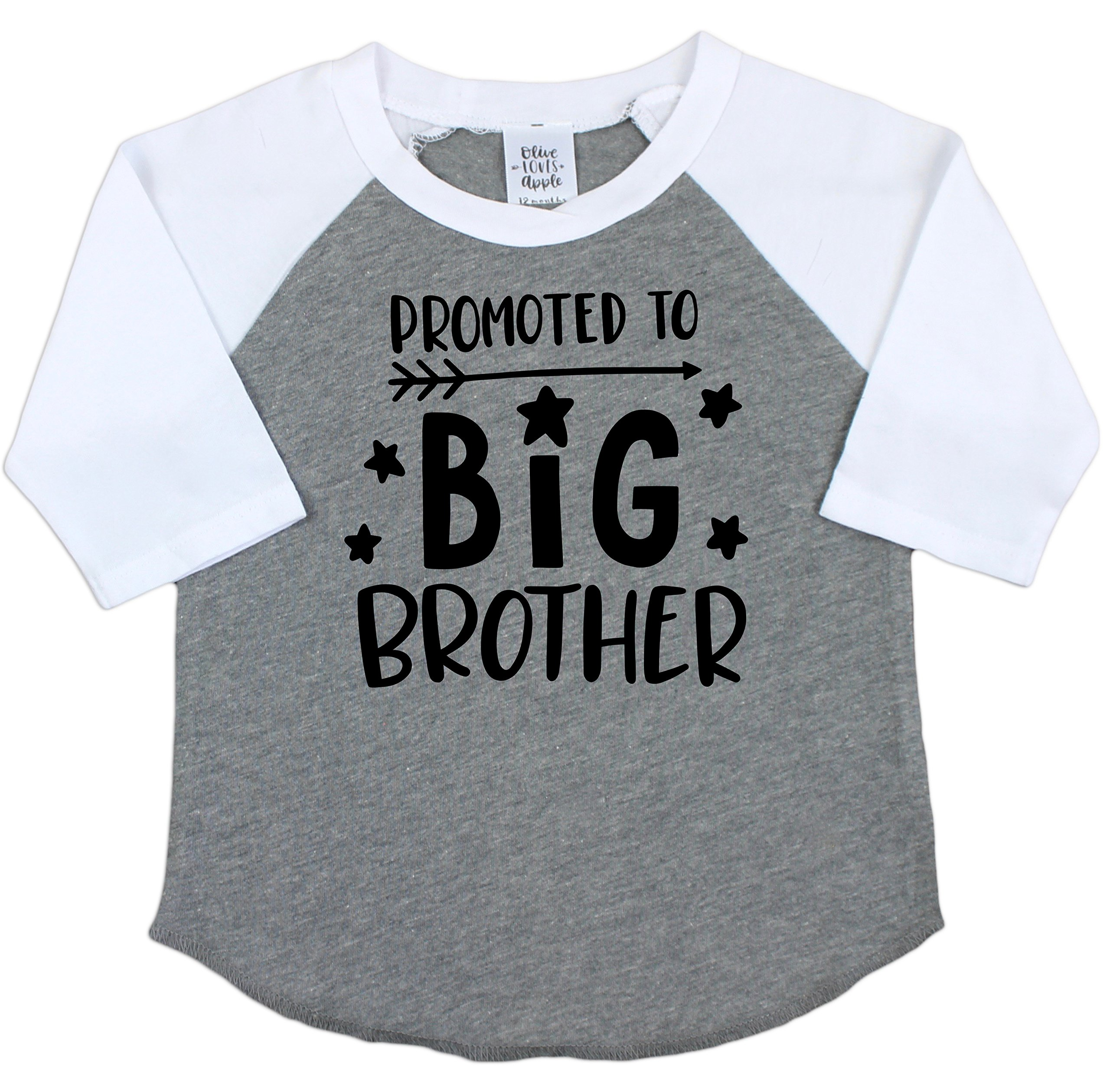Olive Loves Apple Promoted to Big Brother Gender Reveal Shirt for Sibling Brother Big Brother Shirt