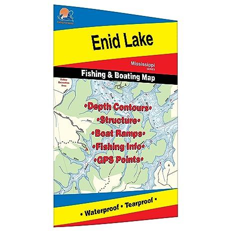 Amazoncom Enid Lake Fishing Map Sports Outdoors