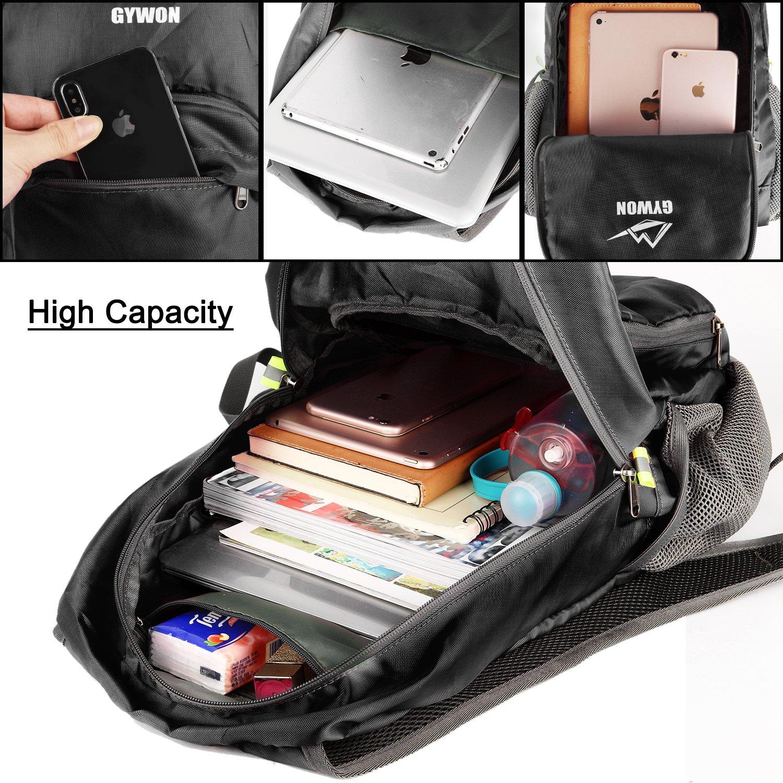 Gywon Hiking Daypacks Travel Backpack Shoulder Bag Lightweight Packable Carry On Foldable Pack 15000023-1
