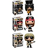 Funko Rocks: Pop Music Guns N Roses Collectors Set-Slash, Axl Rose, Duff Mckagan Action Figure