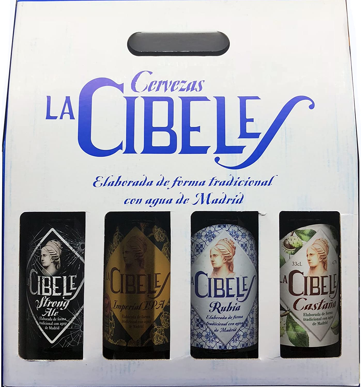 Cerveza Artesana La Cibeles. Pack de 4 Tercios Variados.: Amazon ...
