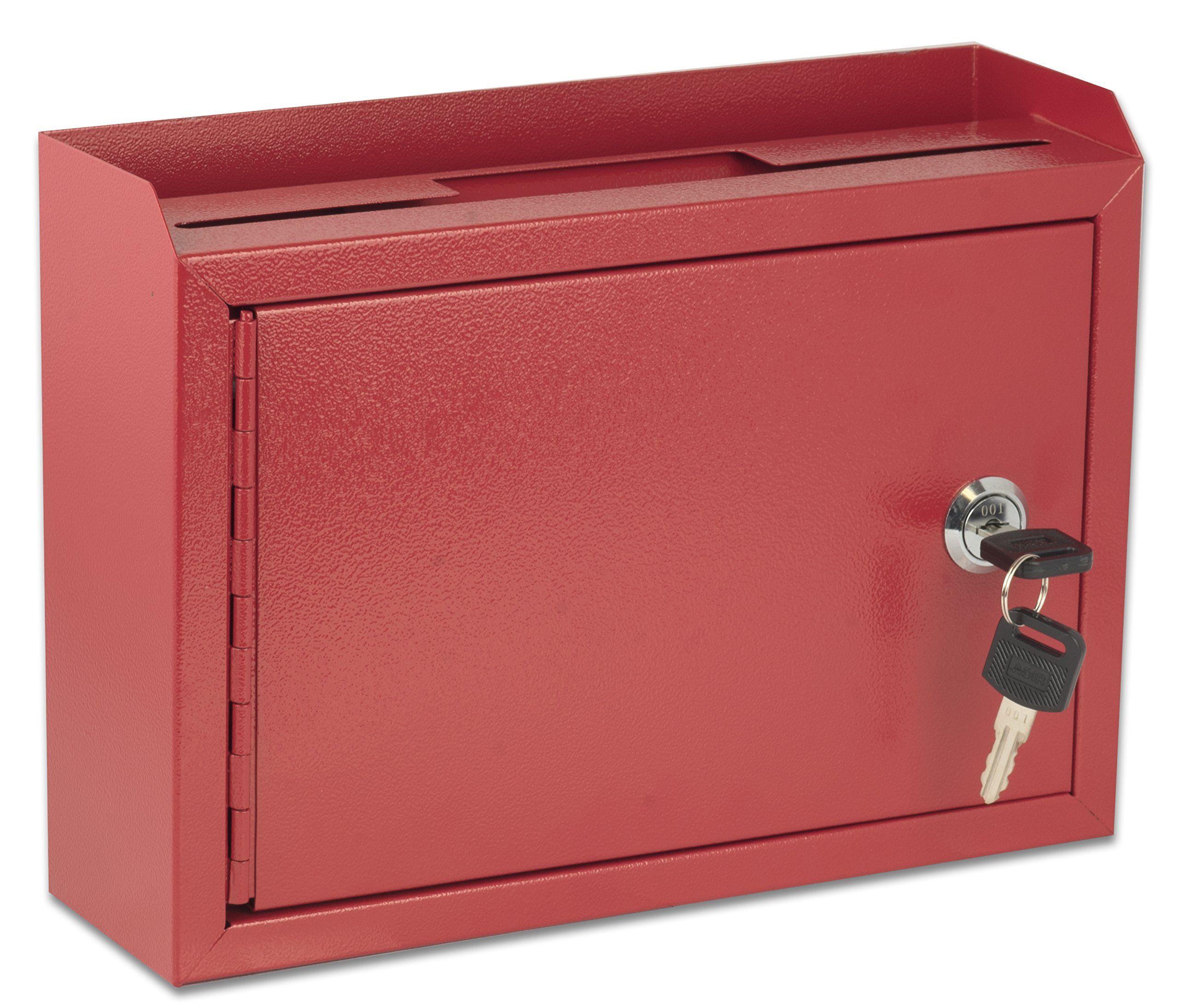 AdirOffice Multi Purpose Wall Mountable Suggestion Box, 9.75'' x 7'' x 3'' - Red by Adir