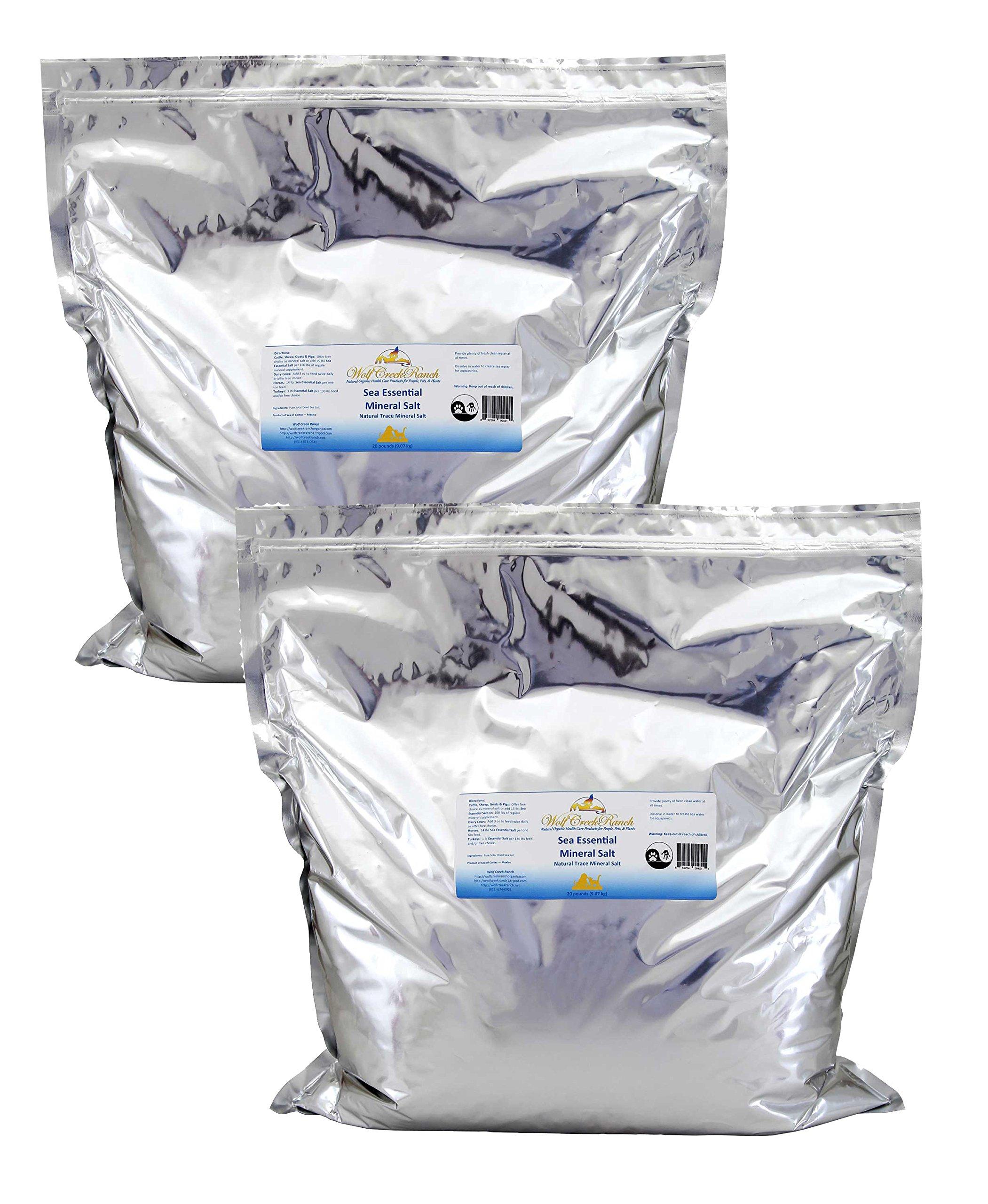 Sea Essential Mineral Salt (40 lbs.) by Wolf Creek Ranch