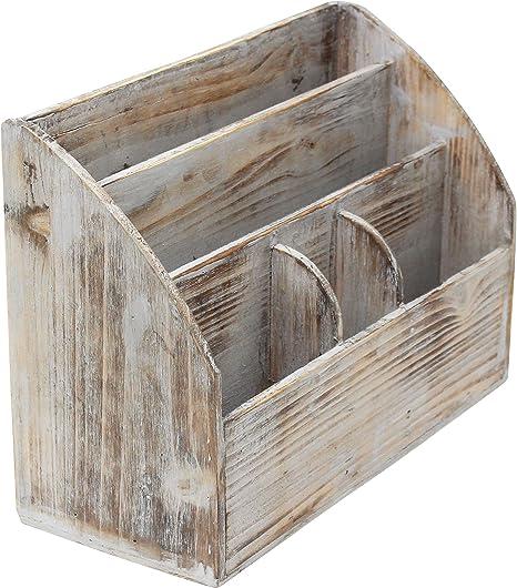 Vintage rústico de madera oficina escritorio organizador & Correo ...
