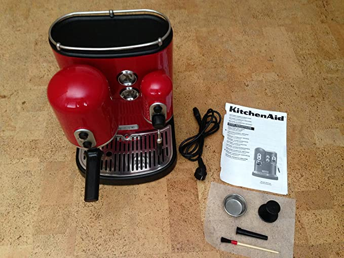 Kitchenaid 5KES2102EER - Cafetera de espresso, 1300 W, color rojo: Amazon.es: Hogar