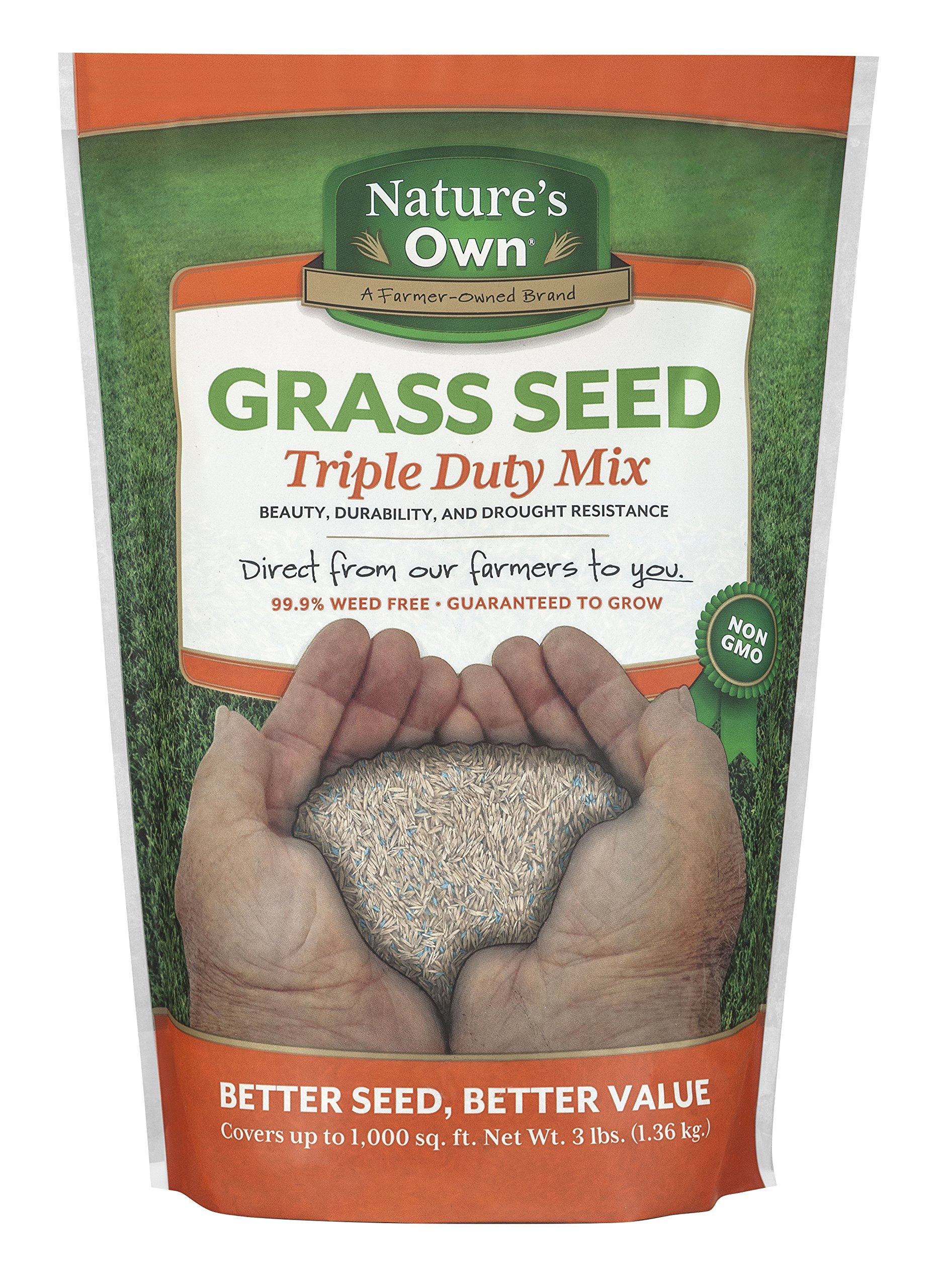 Mountain View Seeds Natures Own Triple Duty Mix Grass Seed, 3-pounds